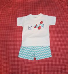 Boys Chevron Appliqued Airplane Shorts Set with by SewSewMarvelous, $30.00