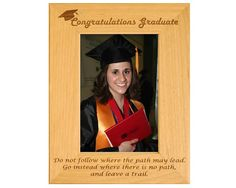 Looking for that perfect graduation gift for a loved one? This personalized graduation frame is the ideal way for your loved one to remember their accomplishment. This engraved Alderwood frame from Gift Works Plus personally congratulates your graduate Graduation Picture Frames, Graduation Pictures, College Graduation, Graduation Gifts, Congratulations Graduate, Trail, High School, Touch, Inspired