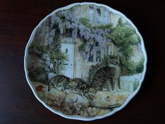 ROYAL ALBERT A NEW DISCOVERY PLATE. CATS AND COTTAGES SERIES. 8 1/2'' DIA | eBay
