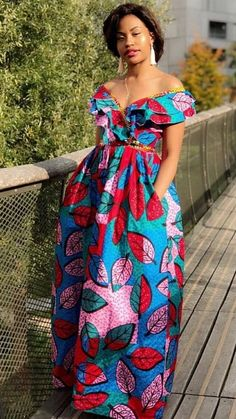 The complete collection of Exotic Ankara Gown Styles for beautiful ladies in Nigeria. These are the ideal ankara gowns Ankara Maxi Dress, African Maxi Dresses, African Fashion Ankara, Latest African Fashion Dresses, African Print Fashion, Africa Fashion, African Attire, Women's Fashion Dresses, African Prints