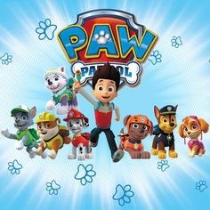 Paw Patrol Wall stickers- Marshall & Rubble & Rocky Sky Paw Patrol, Paw Patrol Pups, Paw Patrol Cake, Paw Patrol Party, Kids Cartoon Characters, Paw Patrol Characters, Cartoon Kids, Paw Patrol Birthday Invitations, Paw Patrol Birthday Cake