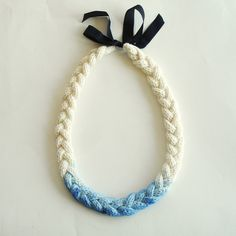 Dip Dye Necklace, ain't this purdy and simple?! This would be beautiful with a coral or black dress.