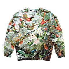 Fusion printed sweatshirt (sexy sweater) with print COLIBRI
