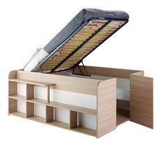 Lit sous estrade (rangé) | small home | Pinterest | Studio, DIY ...