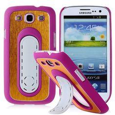 SIII Bend Stand (Pinkki - Keltainen) Samsung Galaxy S3 Suojakuori