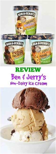 Ben & Jerry's Non-Dairy Ice Cream Review An honest review of three of the four flavors of Ben & Jerry's vegan ice cream. www.veganosity.com