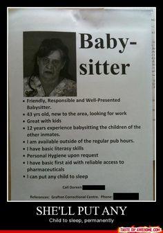 Well she seems legit!