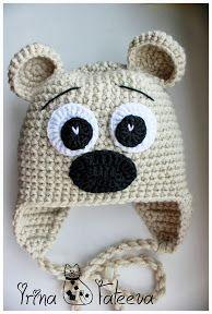 Осенне-зимние головные уборы - 3 Crochet Kids Hats, Crochet For Boys, Crochet Beanie, Crochet Animals, Love Crochet, Crochet Crafts, Hand Crochet, Crochet Monsters, Knitted Hats