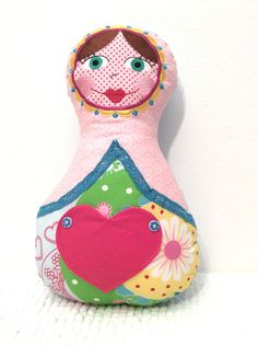 Madame Pimpinellskova Puppe Matroschka Kissen von Dein_Leseknochen auf DaWanda.com