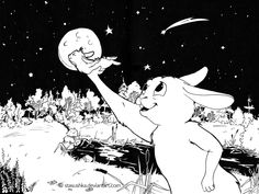 Fly me to the moon (BunnyStories8) by Stasushka.deviantart.com on @DeviantArt
