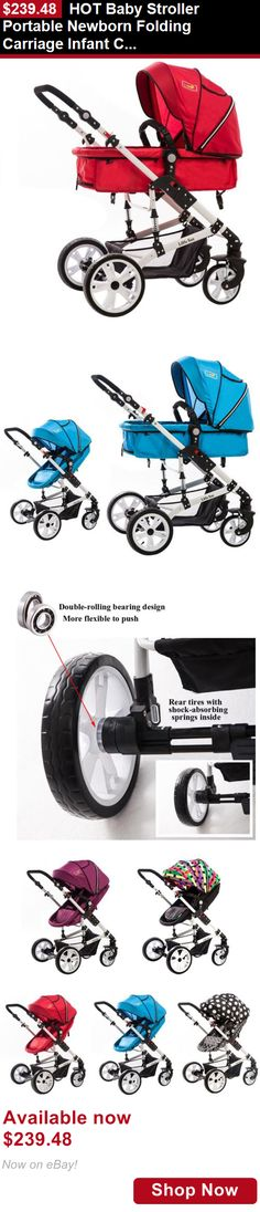 Other Strollers: Hot Baby Stroller Portable Newborn Folding Carriage Infant Comfort Pushchair BUY IT NOW ONLY: $239.48