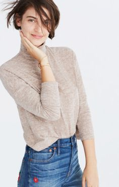 Madewell: Boxy Turtleneck Top