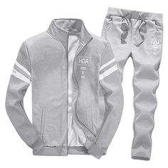Home Intelligent 2019 Mens Men Casual Active Suit Zipper Outwear Sportwear Suit Sweatshirt Tracksuit Without Hoodie 2pc Jacket+pants Sets Pleasant In After-Taste