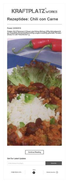 Rezeptidee: Chili con Carne