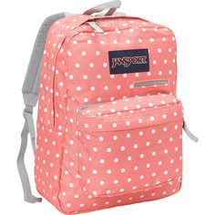 Jansport Digibreak Laptop Backpack- Discontinued Colors ($22) ❤ liked on Polyvore featuring accessories, tech accessories, pink and jansport