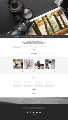Website for wodlige photographers. Animal photography portfolio will look marvelous on this site design.