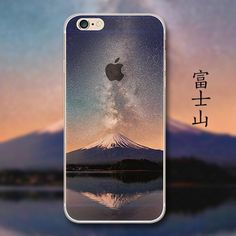 69e43535778d Fashion Thin Soft Silicone Mountain Back Cover Case For Apple iPhone SE 5s    6 6s