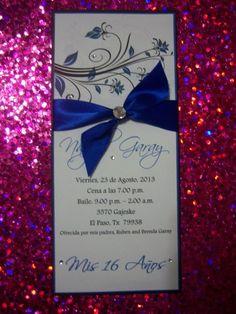 Royal Blue Wedding Birthday Party Quinceañera Sweet 16 Invitations | suncitypartycreations - Wedding on ArtFire