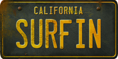 #dominomag #pintowin  Guide for my east coast friend that left me for Venice Beach.   California License Plate Surfin - Spicher and Company - $60.00 - domino.com