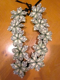 Beautiful Money Lei with 2.00 bills by PCbyMarilyn on Etsy