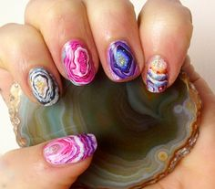 Agate Nails by basecoat-topcoat