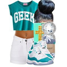 5 Swag Outfits For Girls, Teenage Outfits, Cute Swag Outfits, Dope Outfits, Teen Fashion Outfits, Trendy Outfits, Summer Outfits, Girl Outfits, Jordan Outfits