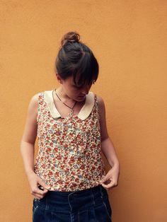 Banksia sleeve-less top by tinynicethings, via Flickr