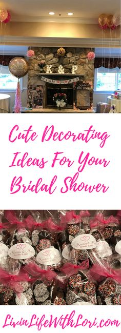 Planning A Bridal Shower? Try These Cute Decorating Ideas www.livinlifewithlori.com #BridalShowerFavors