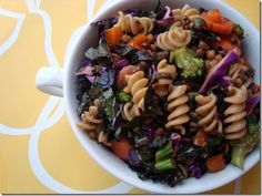 Veggie Pasta Salad.  I love when these are veggie salads with a bit of pasta rather than the other way around.