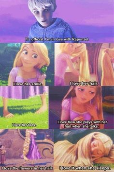 Jack loves everything about Rapunzel