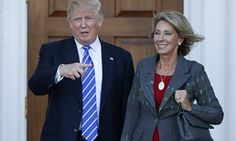 Donald Trump nominee for education secretary, Betsy DeVos, has so far failed to supply information about potential conflicts of interest. Jan 09 2017