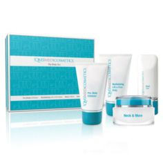 QMS Medicosmetics The Body BoxInhoud:Pro Body Exfoliator 45 ;mlRevitalizing Lift O Firm Body 45 ;mlNeck and More 30 ;mlHand Care 30 ml ;