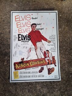 Elvis Presley Kissin Cousins Movie Metal Sign by AtticRecycles