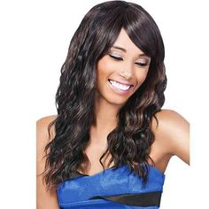 Outre Quick Weave Eco Wig IRIS 1 Jet Black >>> Continue to the product at the image link. (This is an affiliate link) Braided Ponytail Hairstyles, Quick Hairstyles, Weave Hairstyles, Remy Human Hair, Human Hair Wigs, Grey Hair Pieces, Iris, Half Wigs, Braids With Weave