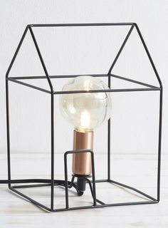 Black house table lamp