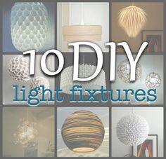 Simply Living : 10 diy light fixtures