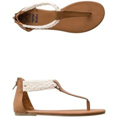 Billabong Sand Wanderer T-strap Sandal (805 MXN) ❤ liked on Polyvore featuring shoes, sandals, flats, braided sandals, t-strap flats, t-strap shoes, woven shoes and t bar flats