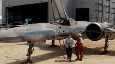 This is the new X-Wing fighter from 'Star Wars: Episode VII'