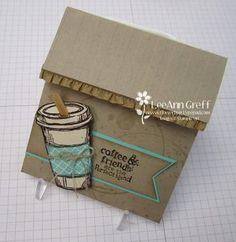 Coffee Cup Fun-Fold Gift Card  from Flowerbug's Inkspot