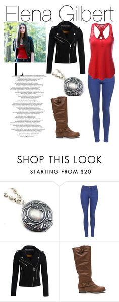 """Elena Gilbert"" by the-katherine-pierce on Polyvore featuring Topshop, Superdry and Doublju"