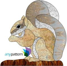 Squirrel Stained Glass Pattern