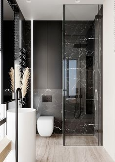 What You Should Do to Find Out About Awesome, Sleek Bathroom Remodeling Ideas You Need Now Before You're Left Behind When the design is finalized you . Modern Bathroom Design, Bathroom Interior Design, Bathroom Styling, Home Interior, Bathroom Designs, Luxury Interior, Interior Decorating, Decorating Ideas, Decor Ideas