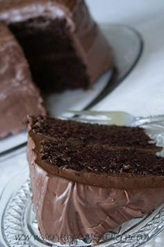Chocolate Buttermilk Cake - Serving Up Southern
