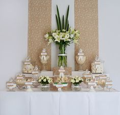 Wedding Candy Buffet ~ Ivory and Brown