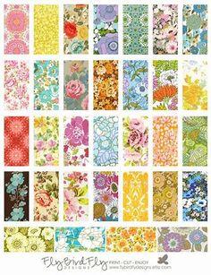 1 x 2 Domino Tiles Digital Collage Print by flybirdflydesi Domino Crafts, Domino Art, Printable Art, Free Printables, Domino Jewelry, Kunstjournal Inspiration, Scrapbook Background, Scrapbooking, Stickers