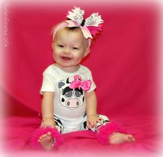 Cow Print Onesie with matching Leg Warmers & by BetterThanBows, Perfect outfit for going to see grandma hammer :) Lil Sweet, Next Wedding, Cow Print, My Little Girl, Country Girls, Future Baby, Baby Items, Onesies, Girl Outfits