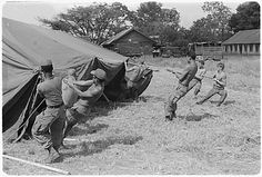 The start of a base camp in Kontum 1967.