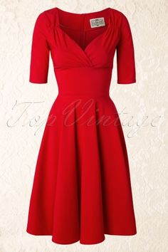Collectif Clothing red trixie doll swing dress  102 20 14342 1