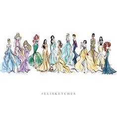 Disney It-girls by elisketches