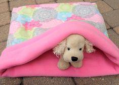 Dog Burrow Sleeping Bag Pink Snuggle Sack Pet Pink Circular